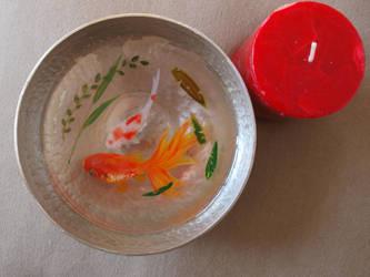 3d art goldfish in resin by goldfishinspiration