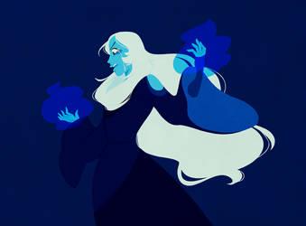 big blue aunt by mintycanoodles