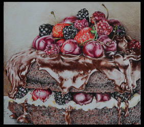 Fruits and chocolate by saraPortrait