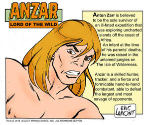 Anzar -headshot/bio by LegacyHeroComics