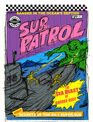 Sub Patrol ''Silver Age'' Cover Layout by LegacyHeroComics