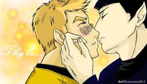 :Kirk+Spock: T'hy'la by TheYumeNoInu