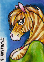 Golden Zebra by soappuppy