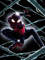 Ultimate Spiderman Miles Morales pose by JonathanPiccini-JP