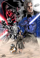 Star Wars VII illustration by JonathanPiccini-JP