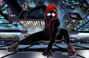 Animated Spiderman Miles Morales by JonathanPiccini-JP