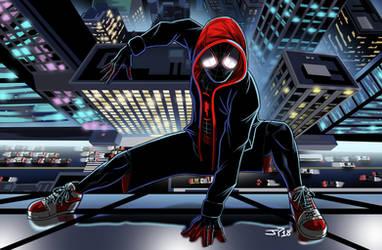 Animated Spiderman Miles Morales by JonathanPiccini-JP
