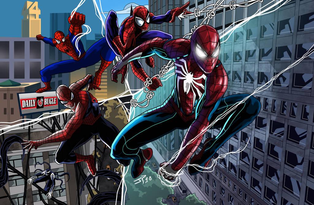 Spiderman Game Evolution by JonathanPiccini-JP