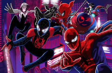 Spiderman into The Spider-verse by JonathanPiccini-JP