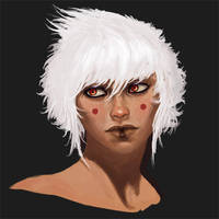 White Hair by Lothrean