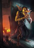 Goblin Intriguer by Lothrean