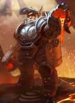 Dwarven Magma Thrower by Lothrean