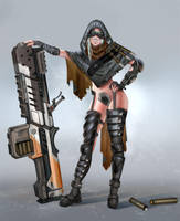 Gun Gurl by Lothrean