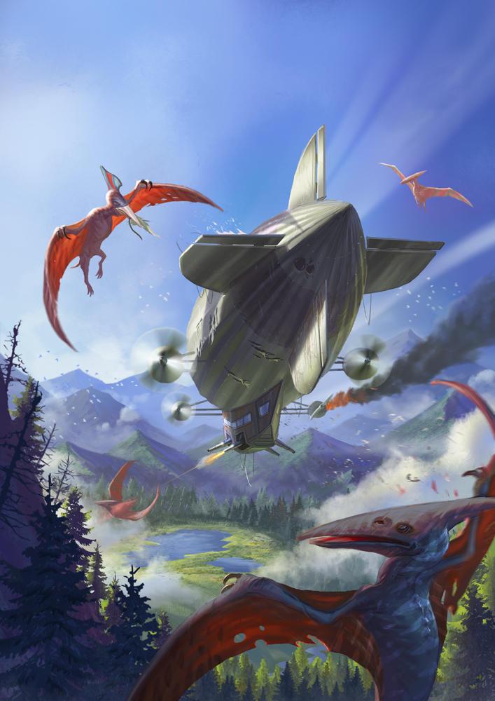 Aerial Battle by Lothrean