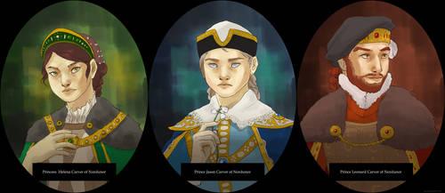 The Silver Trio by TigerMoonCat