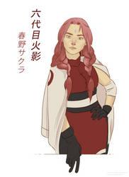 Rokudaime Hokage Haruno Sakura by TigerMoonCat