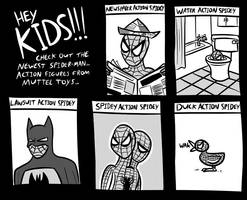 Spidey Toys by Bogswallop