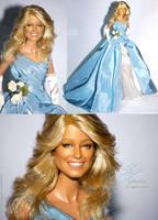 Farrah blue by farrahlfawcett