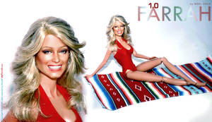 Farrah in the one piece red suit by farrahlfawcett