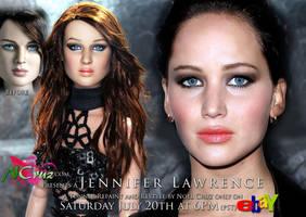 Jennifer Lawrence (Tonner repaint and restyle) by farrahlfawcett