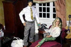 Farrah and Bruce in Regent Miniatures Room box by farrahlfawcett