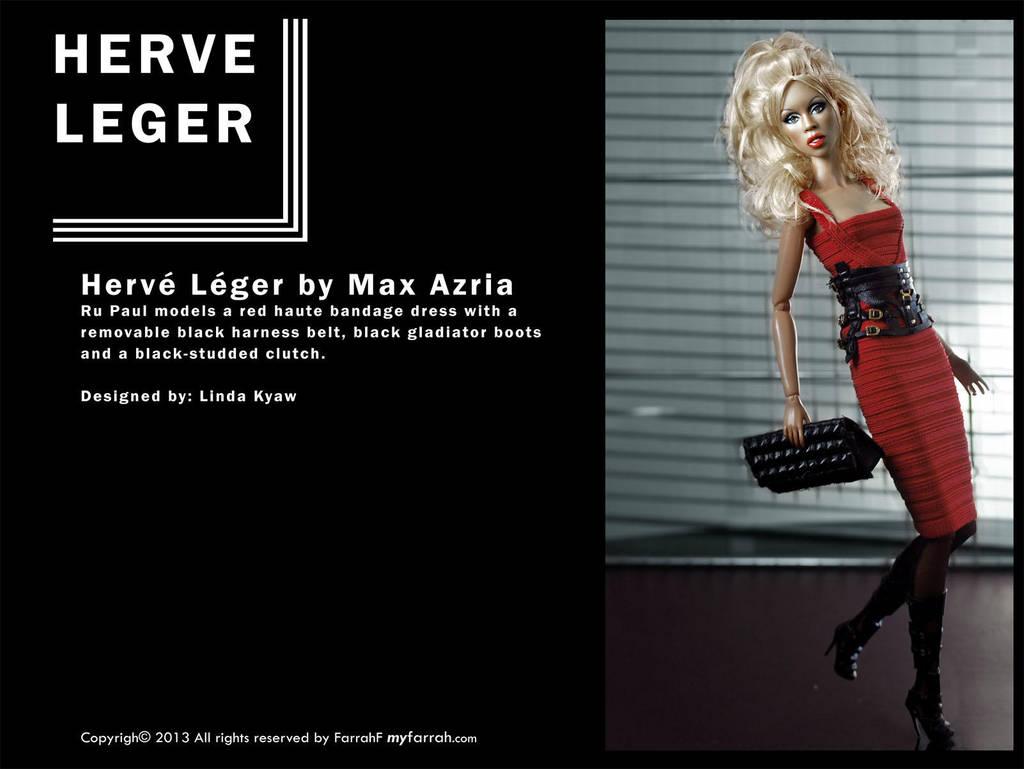 RuPaul models Herve Leger by Max Azria by farrahlfawcett