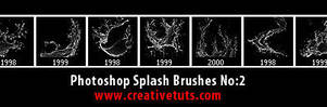 Photoshop Splash Brushes No 2 by Grasycho