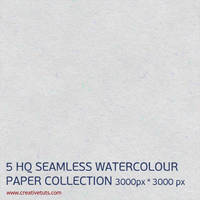5 SEAMLESS WATERCOLOUR PAPER TEXTURES by Grasycho