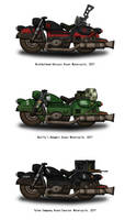 Fallout Motorcycles - Militias of the Capital by penguin-commando