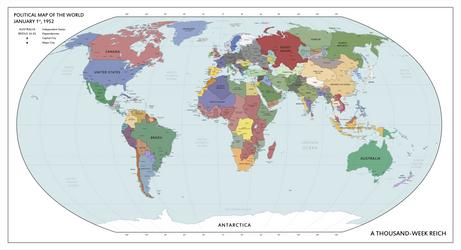 A Thousand-Week Reich - World Map (1952) by ShahAbbas1571
