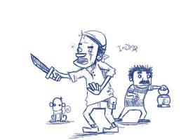 Pirate sketch by IndianaJonas