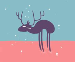 Moose sketch by IndianaJonas