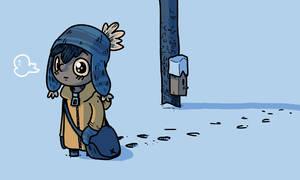 Kurt walking in snow by IndianaJonas