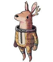 Space Deer 2.0 by IndianaJonas