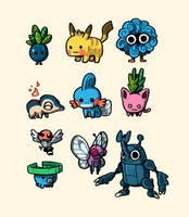 Pocket monsters by IndianaJonas