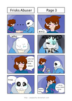 Frisk's Abuser pg3 (PHYSICAL ABUSE TIGGER WARNING) by poppychu