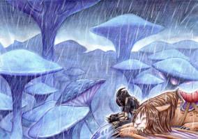 Under the Rain by Black-Charizard