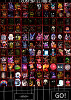 Ultimate Custom Night(11 x 10) COMPLETE by mouse900