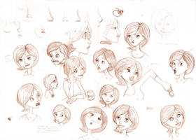 Helen Parr Sketches by Aphius
