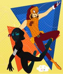 Spidergirls, Spidergirls, Swinging Around Stuff by MikitaMiridoka