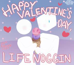 Happy Valentine's Day, Blocko and Circlia by MikitaMiridoka