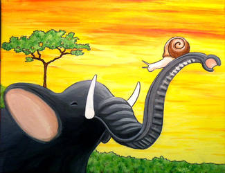 Elephant and the Snail by RussellBarnes