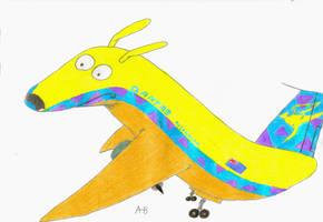 rocko as a plane by sharkplane77