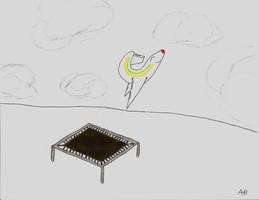 plane on a trampoline by sharkplane77