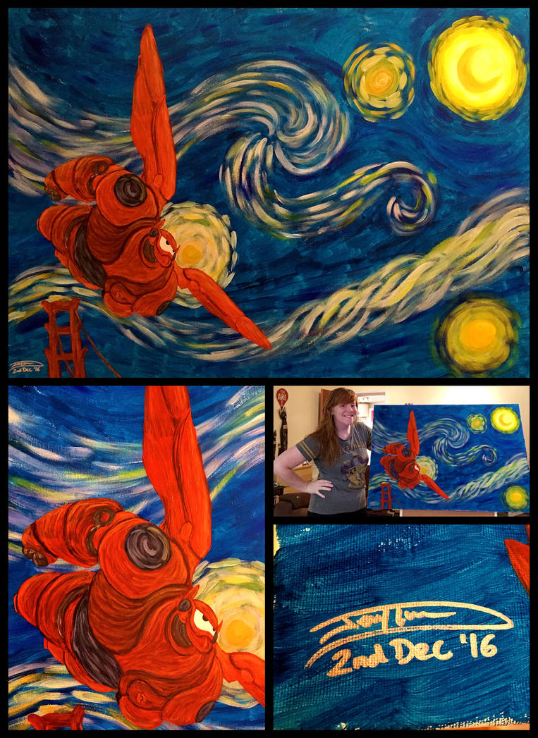 Baymax's Starry Night (Contest Entry) by Jaggid-Edge