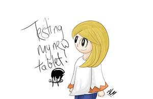 Tablet testing! by SuperAj3