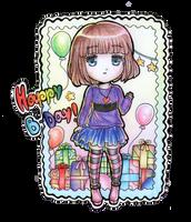 Happy Birthdaaay!!!! (^v^)/ by Sanarar71