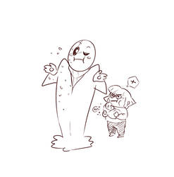 DeterminationTale Gaster, Chara and baby Sans by CreatorOfCastell