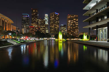 Downtown Los Angeles Reflections by yo13dawg