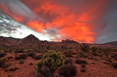 Red Rock Canyon sunset Las Vegas Nevada by yo13dawg